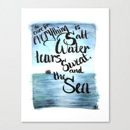 salt water Canvas Print