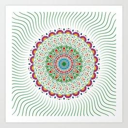 BOHEMIAN MANDALA CIRCLE DESIGN Art Print
