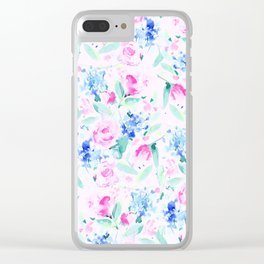 Scattered Lovers Pink Clear iPhone Case