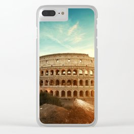 Colosseum Amphitheatre Rome Italy Clear iPhone Case