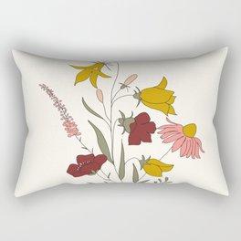 Wildflowers Bouquet Rectangular Pillow