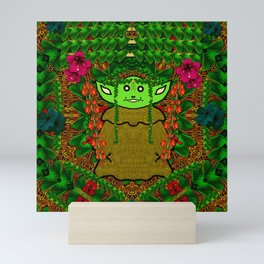 Gnomelorian stand for happy rights in natures color pop-art Mini Art Print