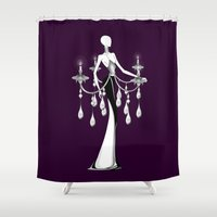 selena Shower Curtains featuring Chandelier by Selena Gazda
