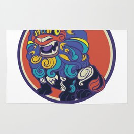 Asian Lion Shisa Rug