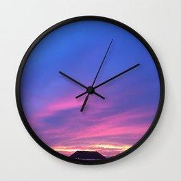 Blue & Purple Sunset Wall Clock