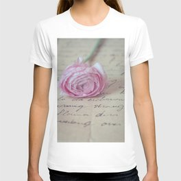 Love Letter With Ranunculus T-shirt