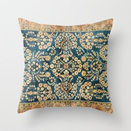 Sarouk  Antique West Persian Rug Print Throw Pillow