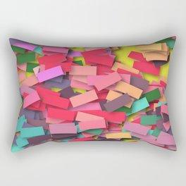 pink colored bricks Rectangular Pillow