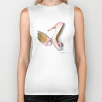 bows Biker Tanks featuring Pink Bows by Anthony Billings