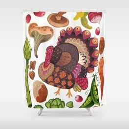 Thanksgiving Dinner Shower Curtain