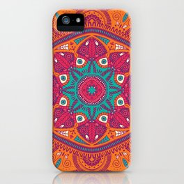 Colorful Mandala Pattern 017 iPhone Case