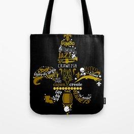 New Orleans Fleur De Lis NOLA Love Tote Bag