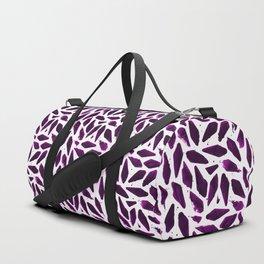 Purple Violet Magenta Ink Blobs Duffle Bag