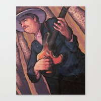 bob dylan Canvas Prints featuring Bob Dylan by Jacob Sanders