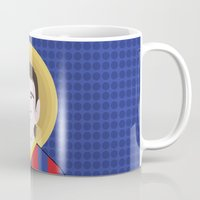 messi Mugs featuring Messi Barcelona by Damian Allende