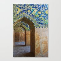 persian Canvas Prints featuring Persian Mosque by Alexandra Tabry