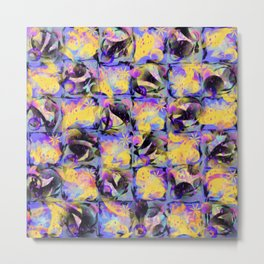 Abstract Square Pattern Art Metal Print
