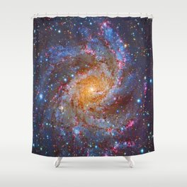 Spiral Galaxy in Outer Space Shower Curtain