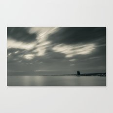 Lisbon in Black and White Canvas Print