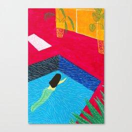 Naked swim Canvas Print