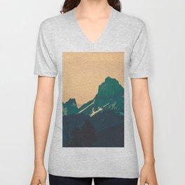 Cascade Mountains Sunset Unisex V-Neck