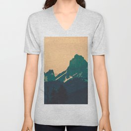 Cascade Mountains Sunset Unisex V-Neck