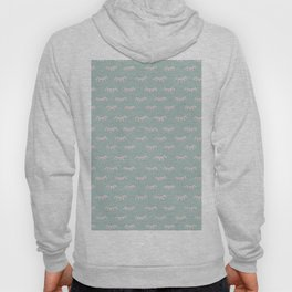 Small Mint Sleeping Eyes Of Wisdom - Pattern - Mix & Match With Simplicity Of Life Hoody