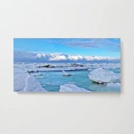 Frozen, and clouds on the Horizon Metal Print