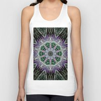 stained glass Tank Tops featuring Stained Glass  by IowaShots