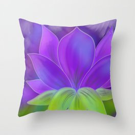 Lotus Accept Throw Pillow