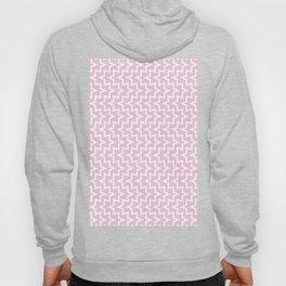 Geometric Sea Urchin Pattern - Light Pink & White #320 Hoody
