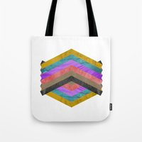 hexagon Tote Bags featuring Hexagon by Kaamil Ajmeri