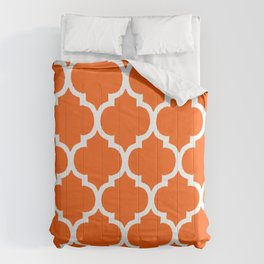 MOROCCAN ORANGE AND WHITE PATTERN 2020 #2 Comforters