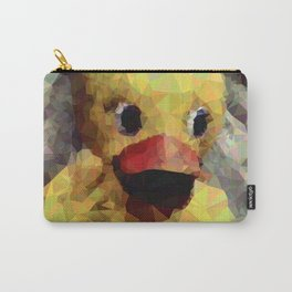 Geometric Yellow Rubber Duck Carry-All Pouch