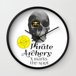 Pirate Archery - X Marks the Spot Wall Clock