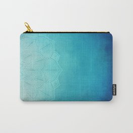 Half Blue Mandala Carry-All Pouch