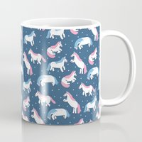 unicorns Mugs featuring Unicorns by Sara Maese