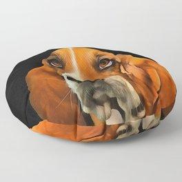 A Basset Hound. (Painting.) Floor Pillow