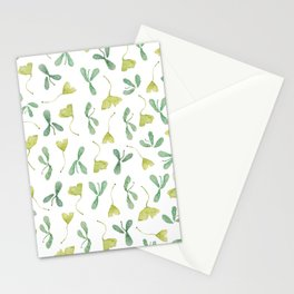 """Watercolor Painting of Picture """"Green Leaves"""" Stationery Cards"""