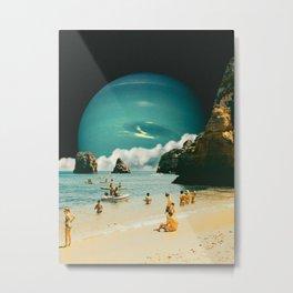 Space Beach Metal Print