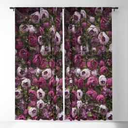 Dark and light pink peonies Blackout Curtain