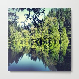 Reflection on Fragrance lake in Northern Washington Metal Print