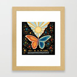 Meet me in the middle Framed Art Print