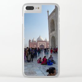 Hanging Out Behind the Taj Mahal Clear iPhone Case