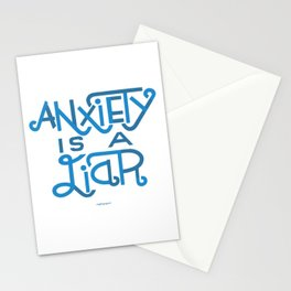 Anxiety is A Liar (light blue) Stationery Cards