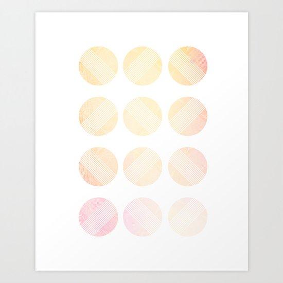 Line Round 2 Art Print