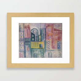 Colored buildings Framed Art Print