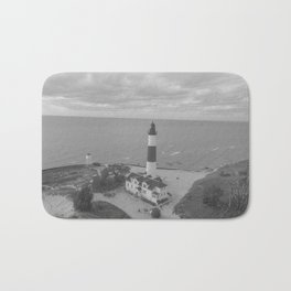Black and White Lighthouse Bath Mat