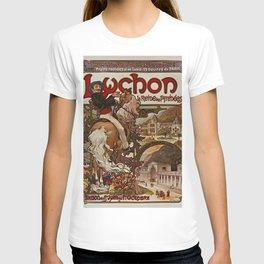 LUCHON Man on Horse Alphonse Mucha T-shirt