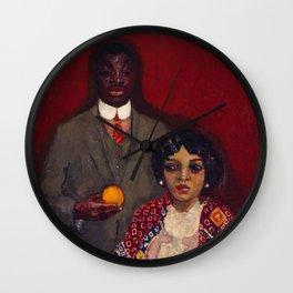 African American Portrait Masterpiece 'Lucie and Her Partner' by Kees van Dongen Wall Clock